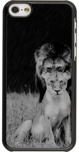 Coque iPhone 5c - Angry lions