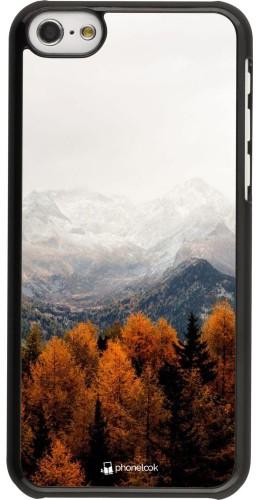 Coque iPhone 5c - Autumn 21 Forest Mountain