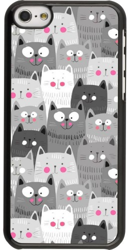 Coque iPhone 5c - Chats gris troupeau