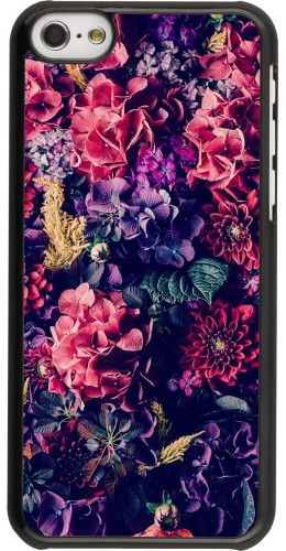 Coque iPhone 5c - Flowers Dark
