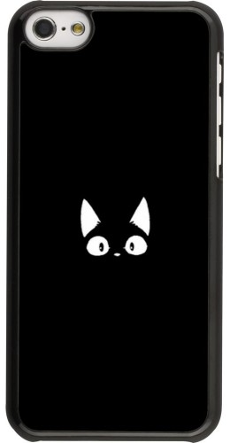 Coque iPhone 5c - Funny cat on black