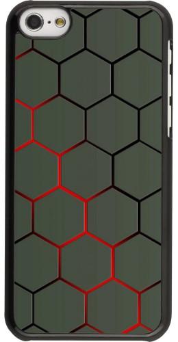 Coque iPhone 5c - Geometric Line red