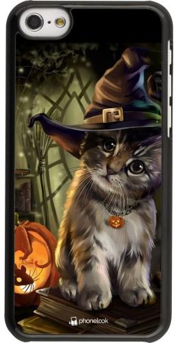 Coque iPhone 5c - Halloween 21 Witch cat