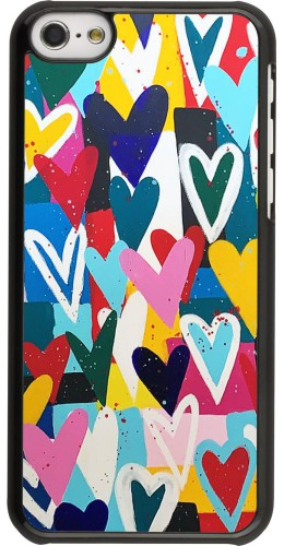 Coque iPhone 5c - Joyful Hearts