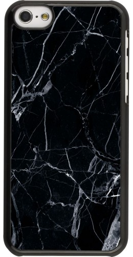 Coque iPhone 5c -  Marble Black 01