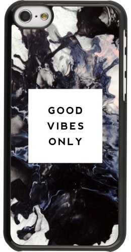 Coque iPhone 5c -  Marble Good Vibes Only
