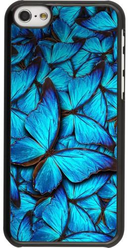 Coque iPhone 5c - Papillon bleu