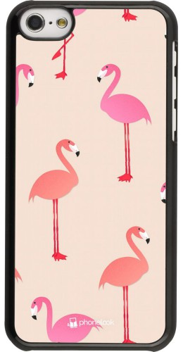 Coque iPhone 5c - Pink Flamingos Pattern