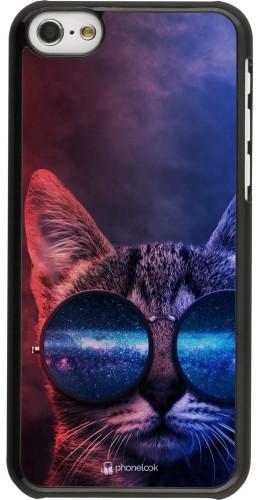 Coque iPhone 5c - Red Blue Cat Glasses