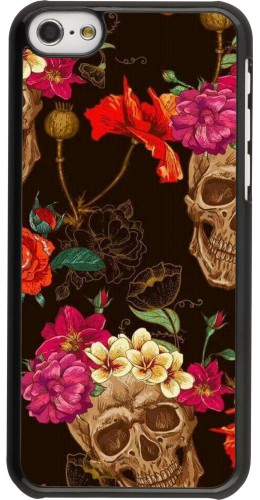 Coque iPhone 5c - Skulls and flowers