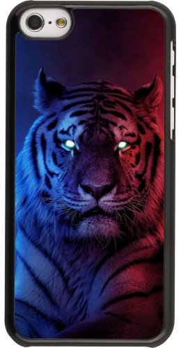 Coque iPhone 5c - Tiger Blue Red