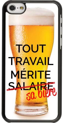Coque iPhone 5c - Tout travail mérite sa bière