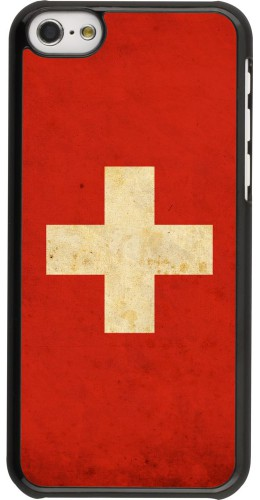 Coque iPhone 5c - Vintage Flag SWISS
