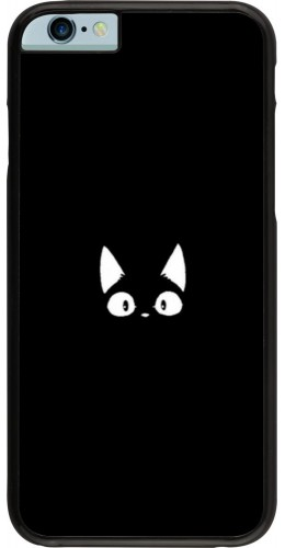 Coque iPhone 6/6s - Funny cat on black