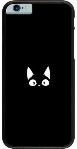 Coque iPhone 6/6s - Funny cat on black