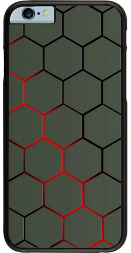 Coque iPhone 6/6s - Geometric Line red