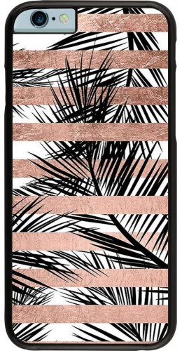 Coque iPhone 6/6s - Palm trees gold stripes