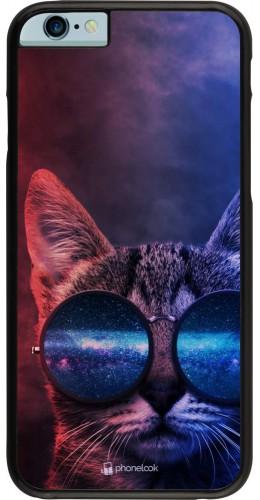 Coque iPhone 6/6s - Red Blue Cat Glasses