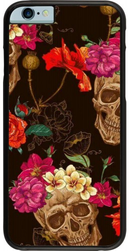 Coque iPhone 6/6s - Skulls and flowers