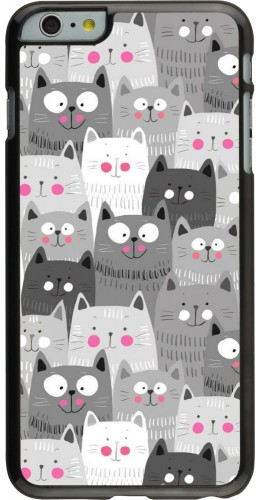 Coque iPhone 6 Plus / 6s Plus - Chats gris troupeau