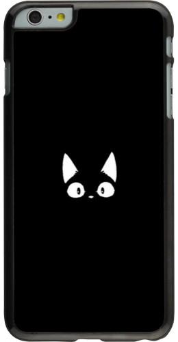 Coque iPhone 6 Plus / 6s Plus - Funny cat on black