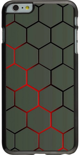 Coque iPhone 6 Plus / 6s Plus - Geometric Line red