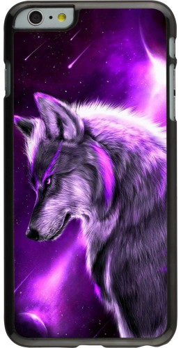 Coque iPhone 6 Plus / 6s Plus - Purple Sky Wolf
