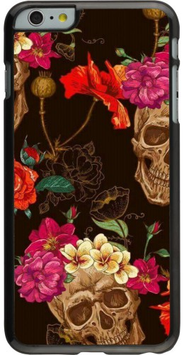 Coque iPhone 6 Plus / 6s Plus - Skulls and flowers