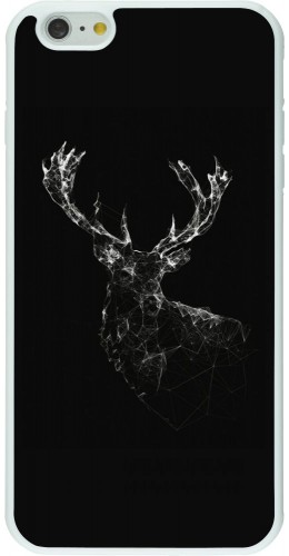 Coque iPhone 6 Plus / 6s Plus - Silicone rigide blanc Abstract deer