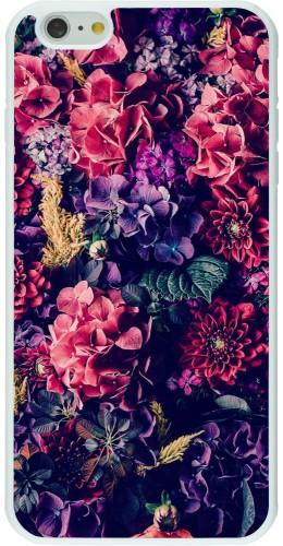 Coque iPhone 6 Plus / 6s Plus - Silicone rigide blanc Flowers Dark