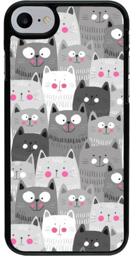 Coque iPhone 7 / 8 - Chats gris troupeau