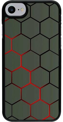Coque iPhone 7 / 8 / SE (2020) - Geometric Line red