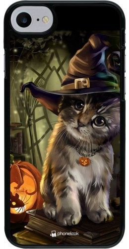 Coque iPhone 7 / 8 / SE (2020) - Halloween 21 Witch cat