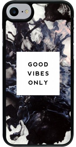 Coque iPhone 7 / 8 - Marble Good Vibes Only