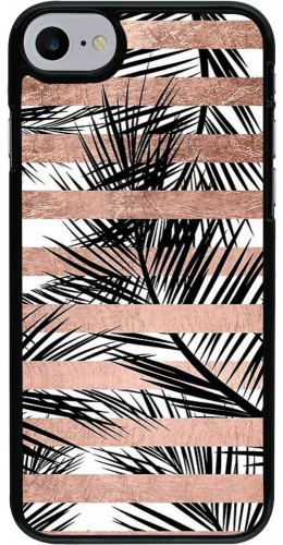 Coque iPhone 7 / 8 - Palm trees gold stripes