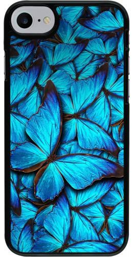 Coque iPhone 7 / 8 - Papillon bleu