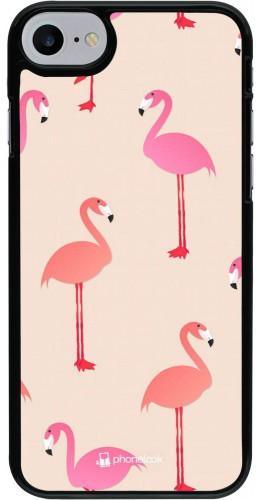 Coque iPhone 7 / 8 / SE (2020) - Pink Flamingos Pattern