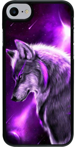 Coque iPhone 7 / 8 - Purple Sky Wolf