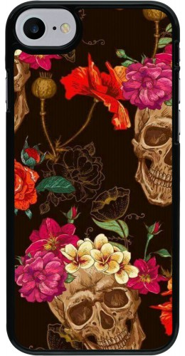 Coque iPhone 7 / 8 / SE (2020) - Skulls and flowers