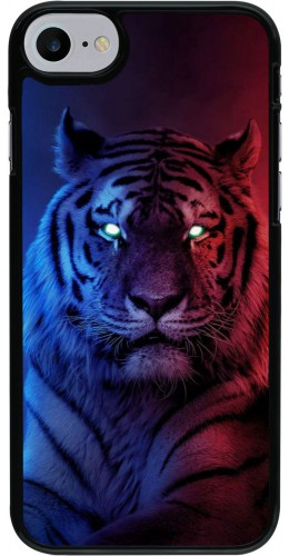 Coque iPhone 7 / 8 / SE (2020) - Tiger Blue Red