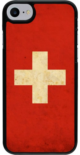 Coque iPhone 7 / 8 - Vintage Flag SWISS