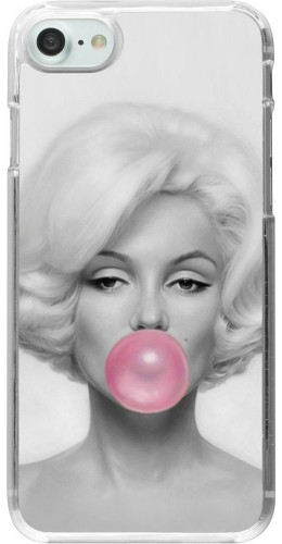 Coque iPhone 7 / 8 - Plastique transparent Marilyn Bubble