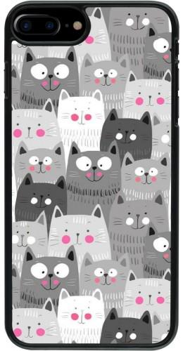 Coque iPhone 7 Plus / 8 Plus - Chats gris troupeau