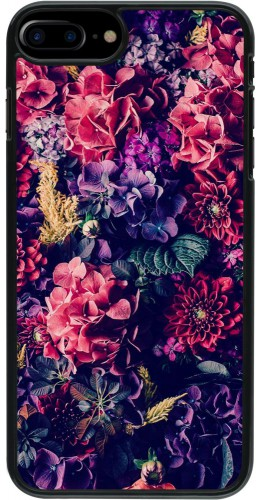 Coque iPhone 7 Plus / 8 Plus - Flowers Dark