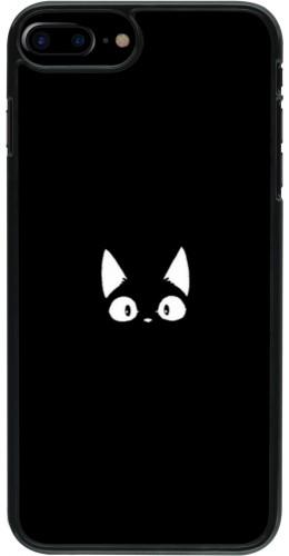 Coque iPhone 7 Plus / 8 Plus - Funny cat on black