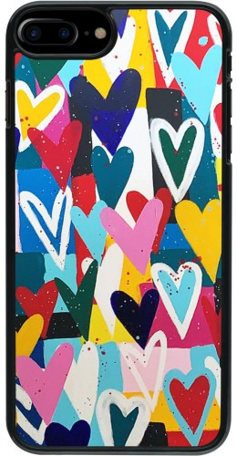 Coque iPhone 7 Plus / 8 Plus - Joyful Hearts