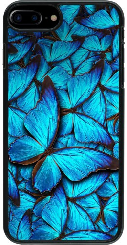 Coque iPhone 7 Plus / 8 Plus - Papillon bleu