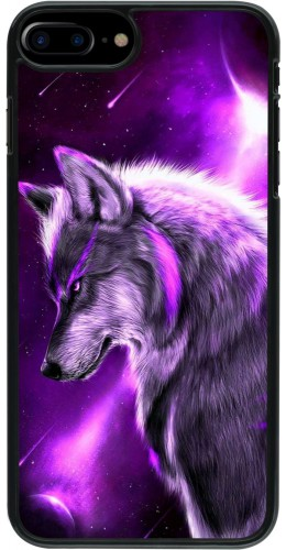 Coque iPhone 7 Plus / 8 Plus - Purple Sky Wolf