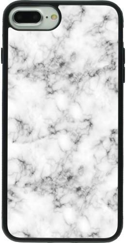 Coque iPhone 7 Plus / 8 Plus - Silicone rigide noir Marble 01
