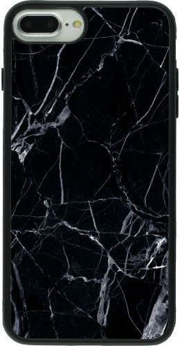 Coque iPhone 7 Plus / 8 Plus - Silicone rigide noir Marble Black 01